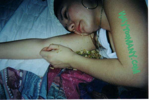passed out drunk vomit