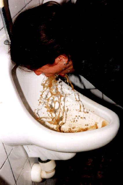Urinal vomit