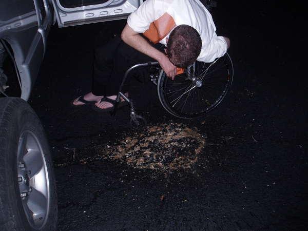 Wedding Chair Puke vomit