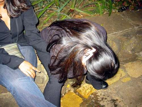 AFTER THE PARTY vomit