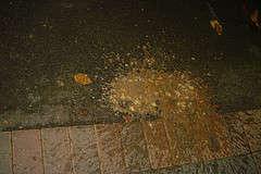 on the street vomit