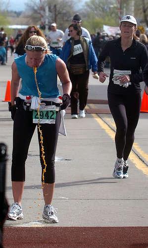 Half Marathon vomit