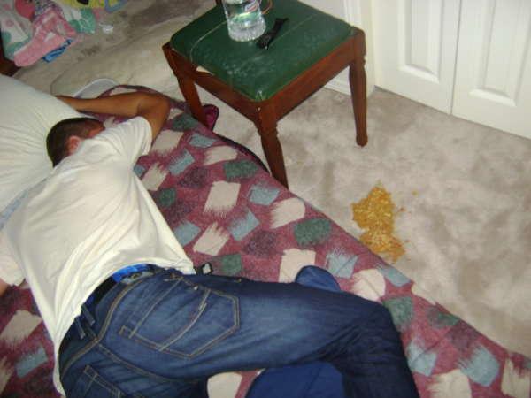 Round 2 of 70's night. vomit