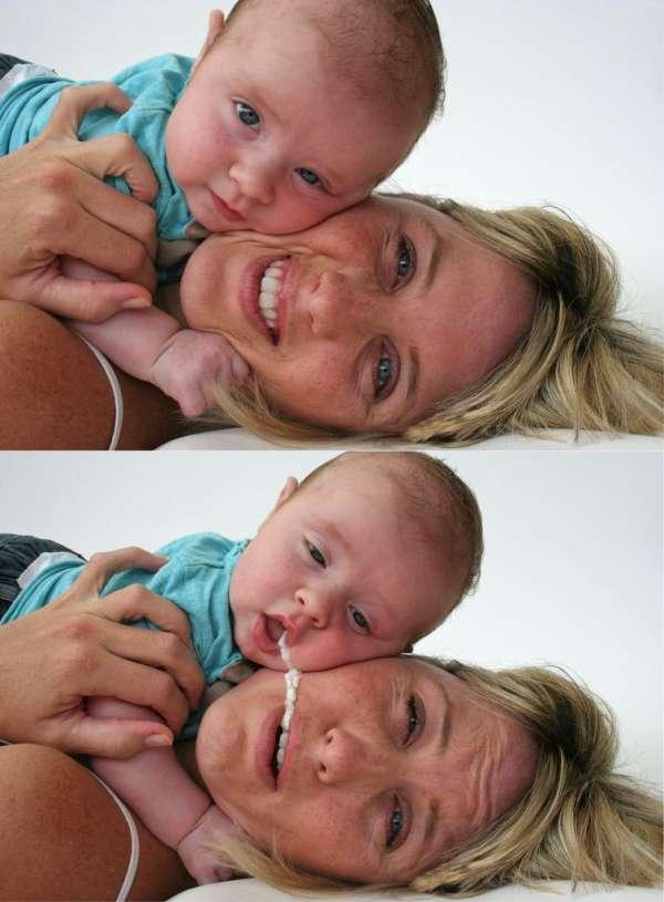 Baby regurgitation OOPSIE vomit