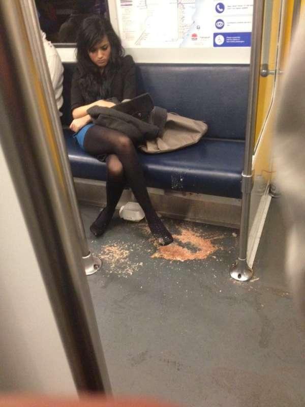 Throwing drunk puke up vomit girl