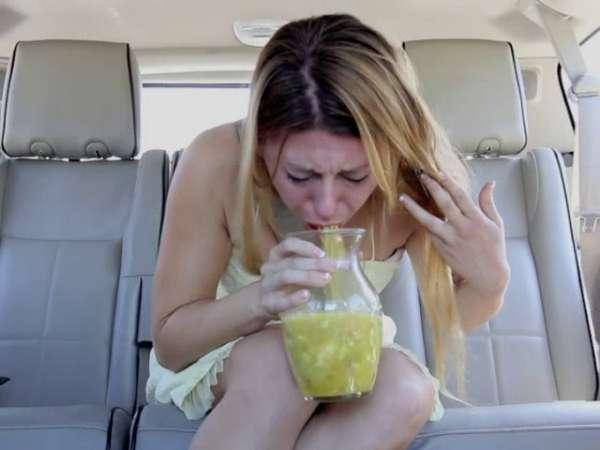 Carsick vomit