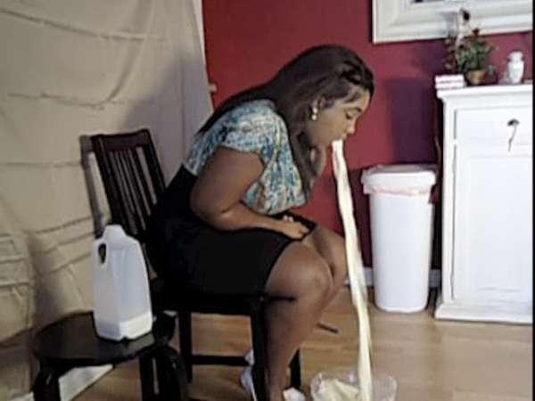 milk challenge failed vomit
