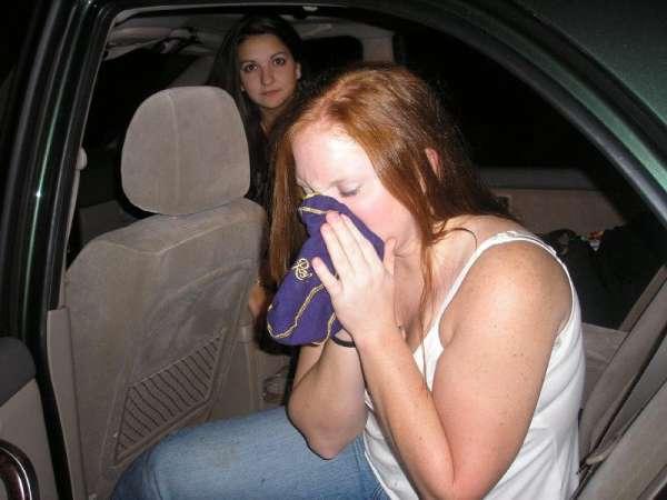 Allyson had too much Crown Royal vomit