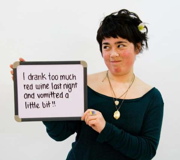 Bea makes a confession vomit