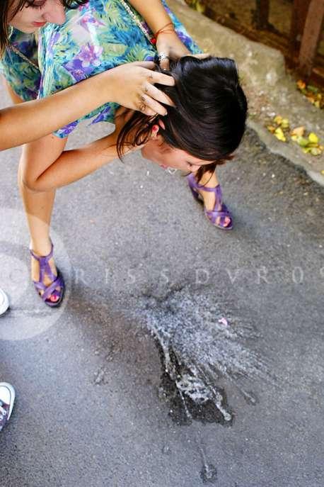 Lila pukes vomit