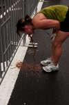running disaster vomit