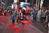 Girl's stomach contents splatter in Times Square vomit