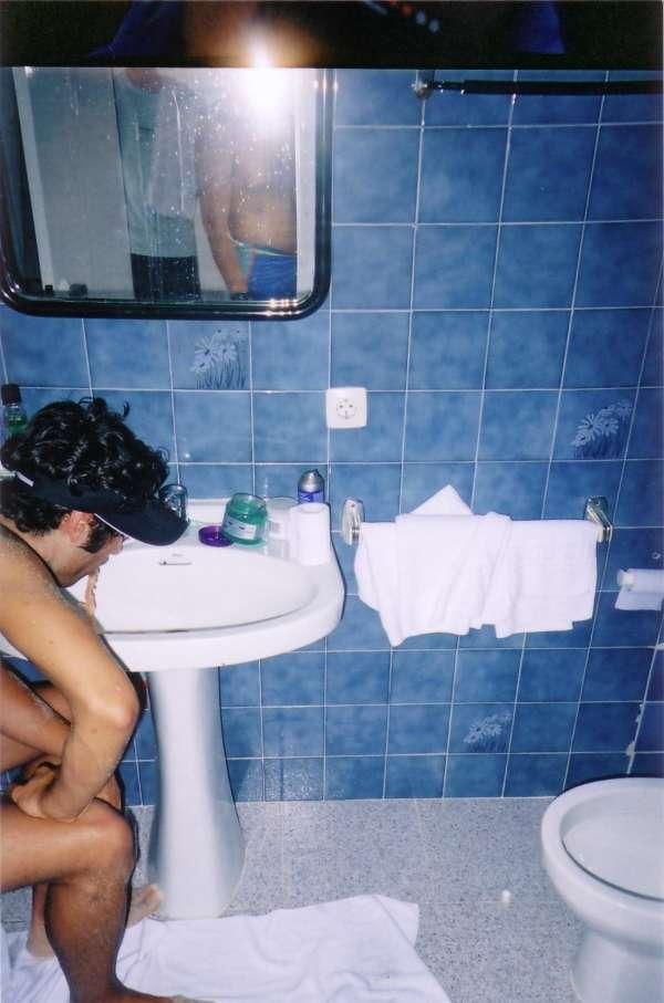 drunk in magaluf vomit