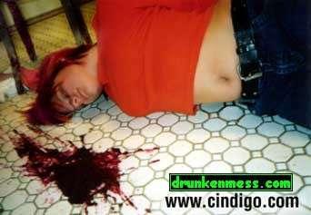 blood lookin vomit