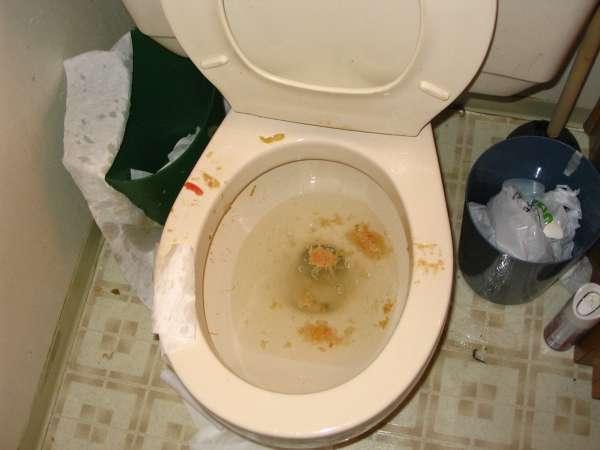 a burp vomit