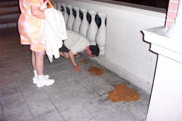 Robb puking in Vegas vomit