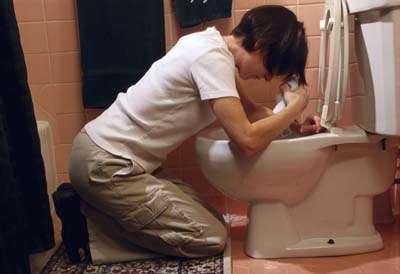 right before school vomit