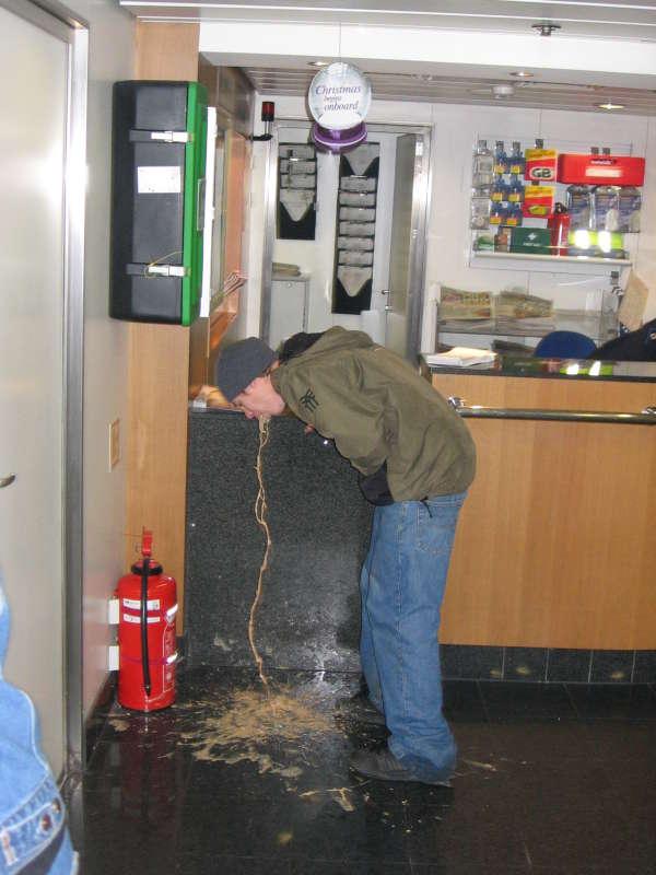Voden on ferry vomit