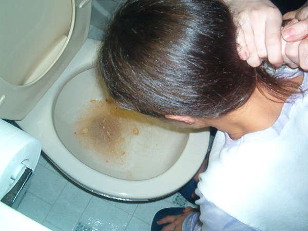 Girl named Cait puking! vomit