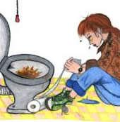 A bulimia girl pukes! vomit